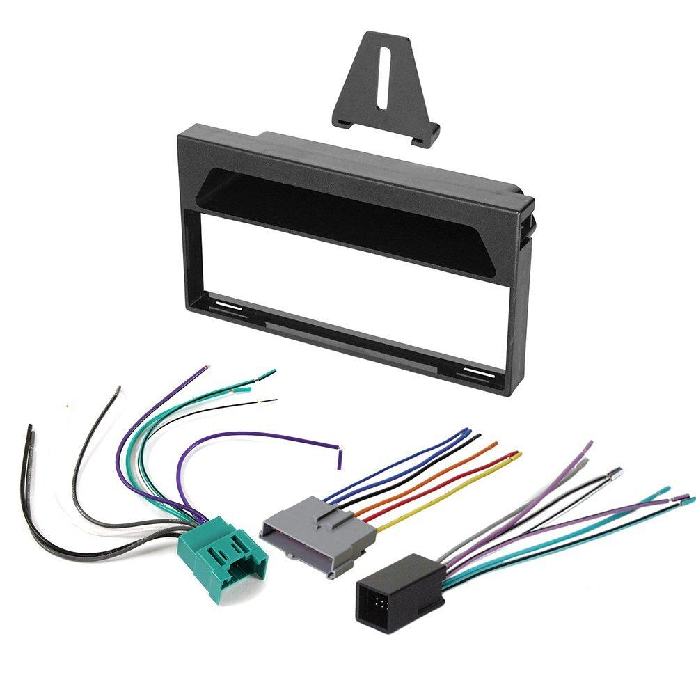1997 1998 ford f 150 aftermarket car stereo radio single din dash installation kit wiring harness F150 Wire Harness radio wiring harness connector fit 1997