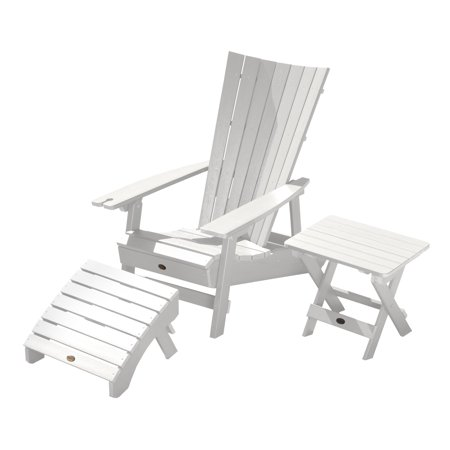 Highwood Manhattan Beach Adirondack Chair Wine Holder Table Ottoman