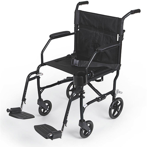 Medline Ultralight Transport Chair, Black