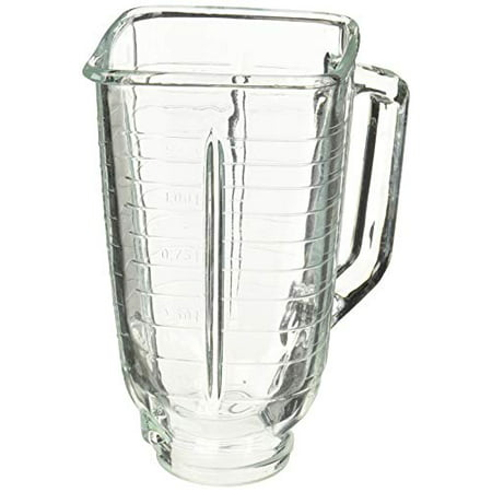 5 Cup Square Top Glass Blender Replacement Jar for Oster & Osterizer ()