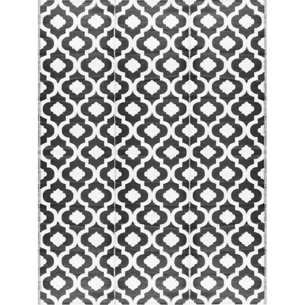 Balajeesusa 9 X12 Indoor Outdoor Rugs Patio Mat Plastic Straw Camping Rug Rv Picnic Mats Wholesale Price Black White 54514 Walmart Com Walmart Com