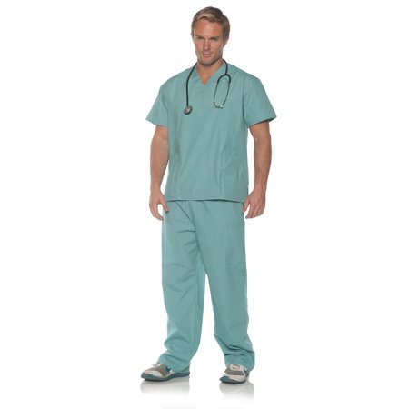 Doctor Who Costumes For Adults (Surgery Mens Adult Light Blue Doctor Career Costume)