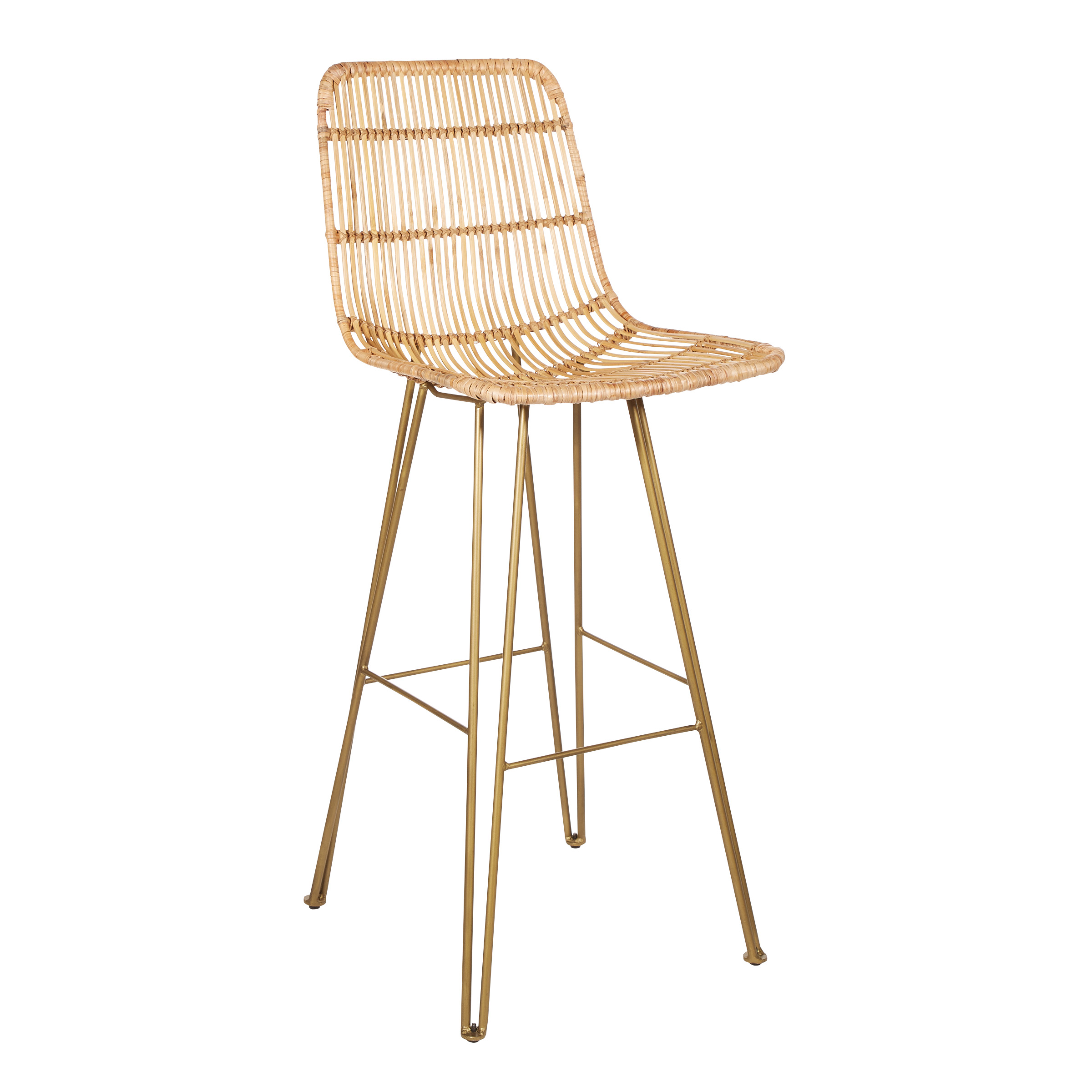 Inspired By Bassett Capri 30 Barstool With Natual Weave And Antique Brass Metal Finish 2 Ctn Walmart Com Walmart Com