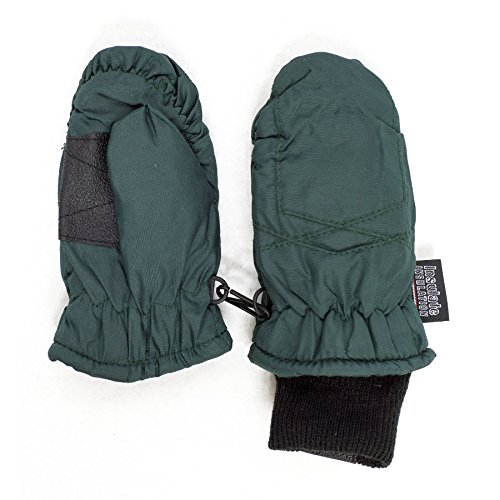 SANREMO Unisex Kids Toddler Thinsulate and Waterproof Cold Weather Ski Mittens (2-4 Years, Hunter Green)