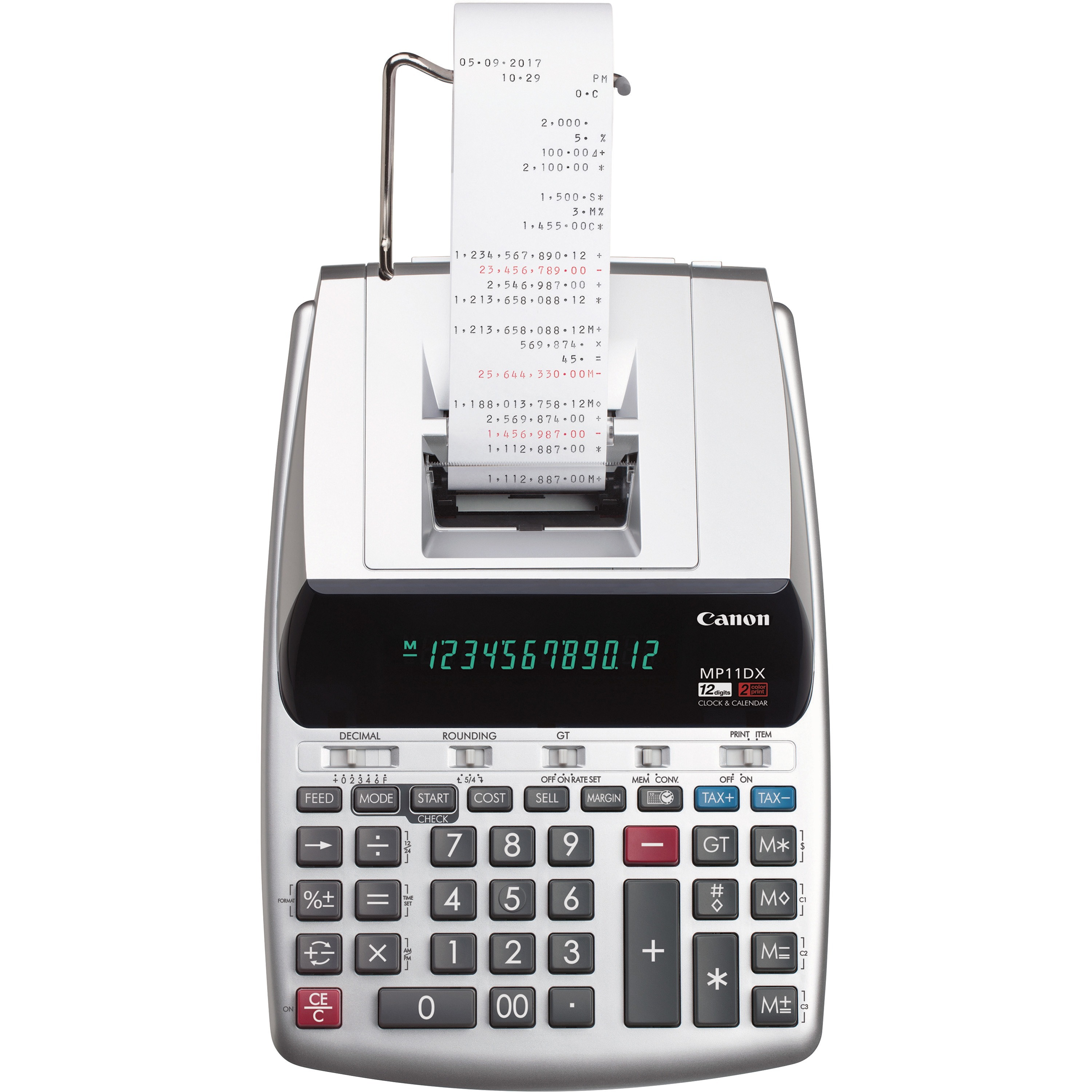 Canon, CNMMP11DX2, MP11DX 2-Color Printing Calculator, 1 Each, Silver by Canon, Inc