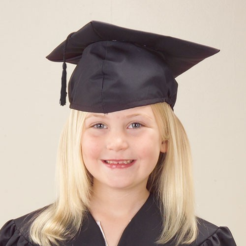 US TOY H322 Children's Black Cloth Graduation Cap