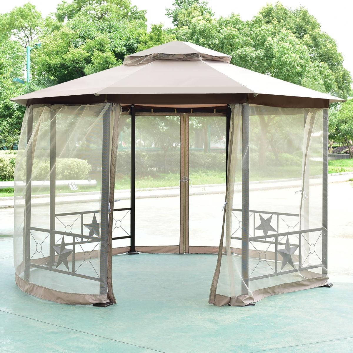 Costway Octagon 2-Tier 12.5ft Outdoor Gazebo Canopy Shelt...