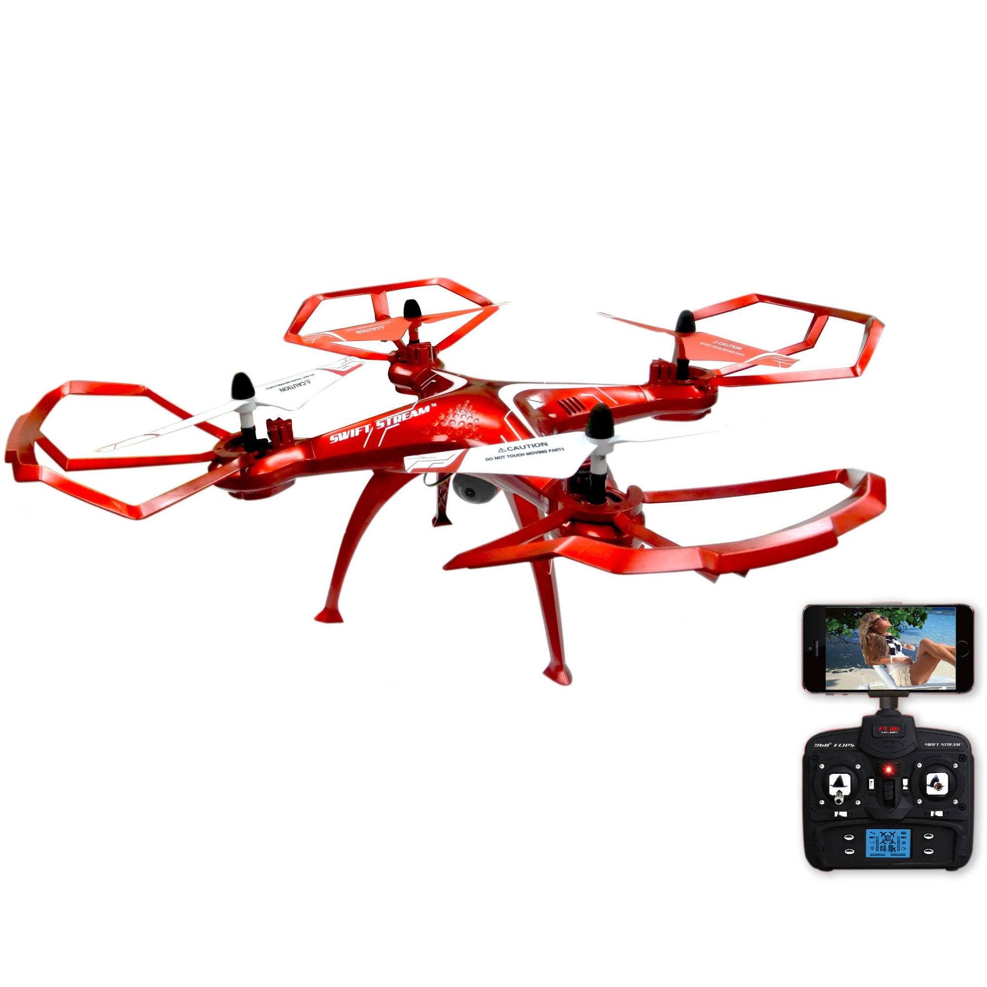 """Swift Stream Z-10 Remote Control 19"""" Camera Drone, Black"""