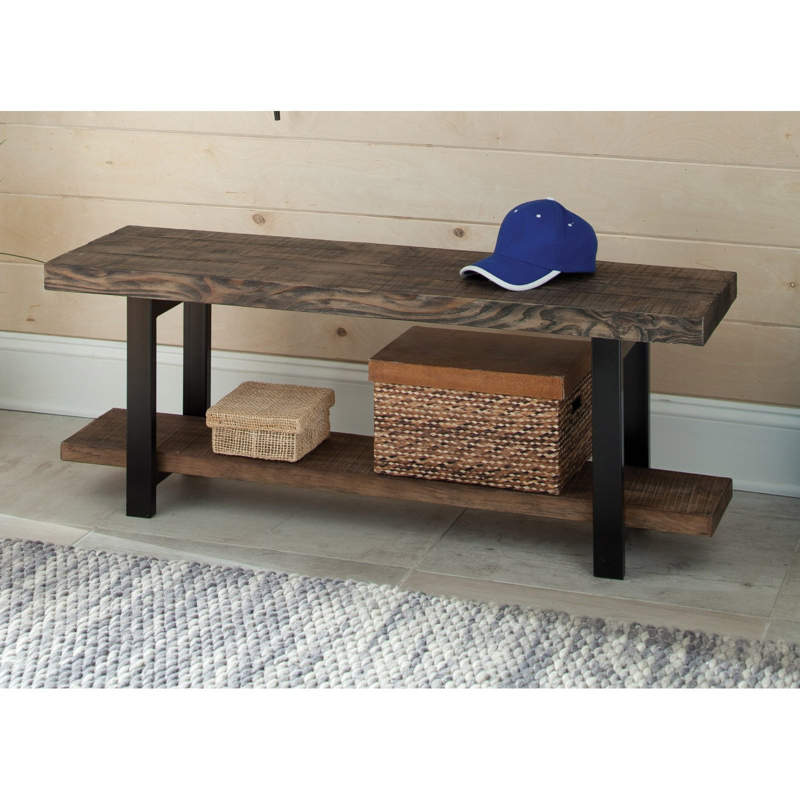 Pomona Bench, Rustic Natural