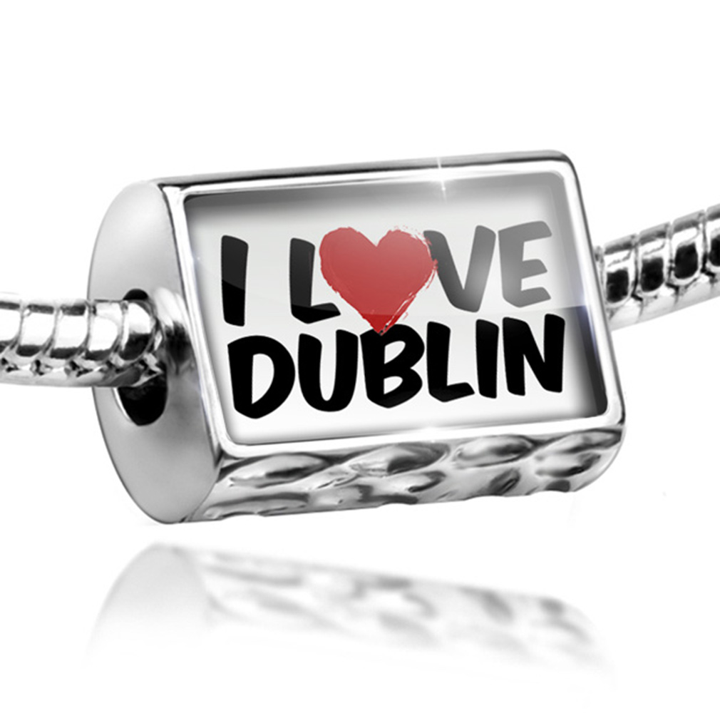 Bead I Love Dublin Charm Fits All European Bracelets