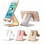 Universal Cell Phone Tablet Desktop Stand Desk Holder Mount Cradle Aluminium Rose Gold