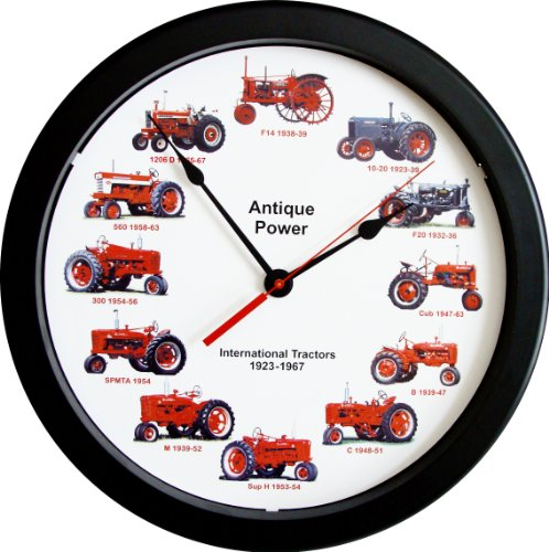 "New 14"" Massive International Farmall Wheel Dial Vintage Tractors from 1923 - 1967 14 Inches Round Wall Clock ..."