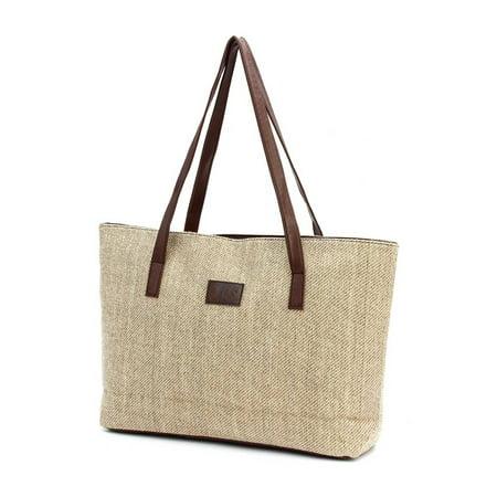 Women Handbag Canvas Shoulder Bags Large Capacity Linen Casual Tote Shopping Bag