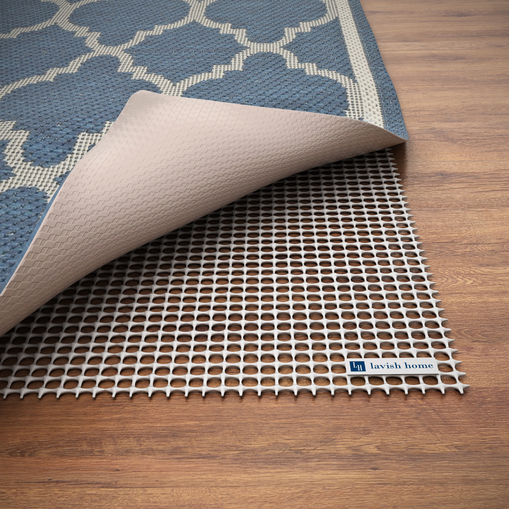Non Slip Rug Pad  Rubber Non Skid Gripper For Area Rugs On Hard Surfaces And