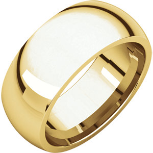 10K Yellow 8mm Comfort Fit Band