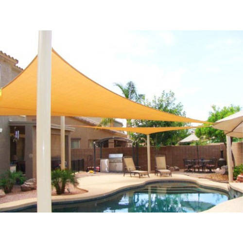 Aleko Rectangle Waterproof Sun Shade Sail Canopy Tent Replacement, 20' x 16', Beige Color
