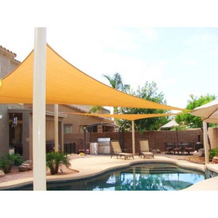 Aleko rectangle sun shade sail canopy tent replacement 20 for Shade sail cost