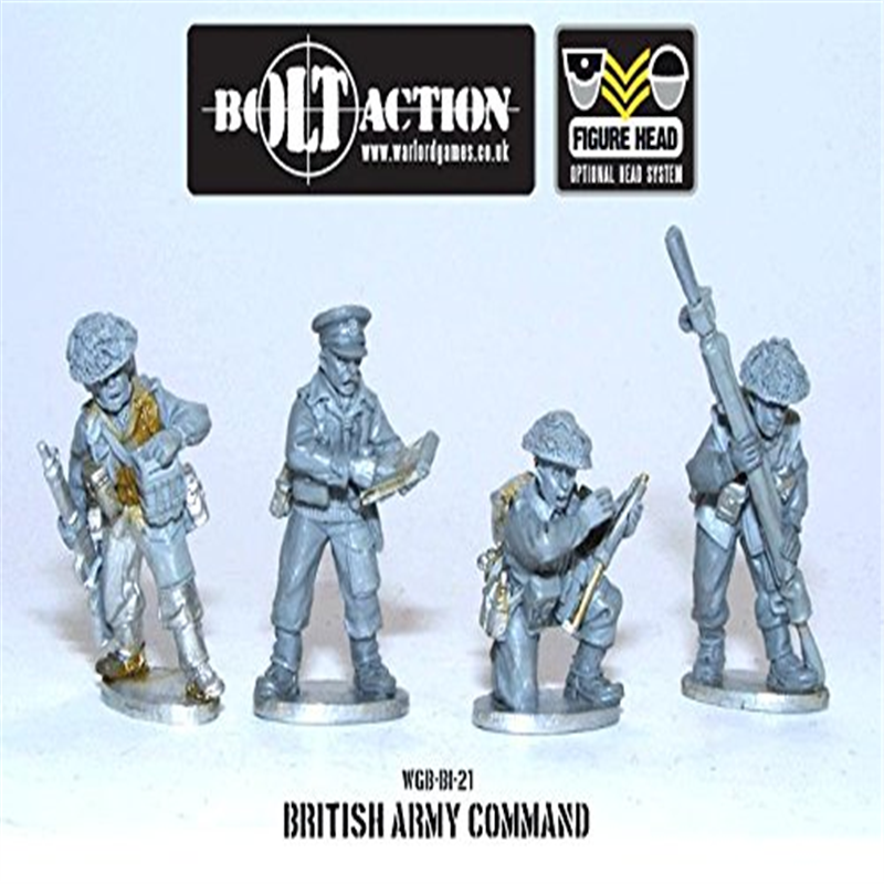 28mm Bolt Action (British) - British Command (4) by Warlord Games