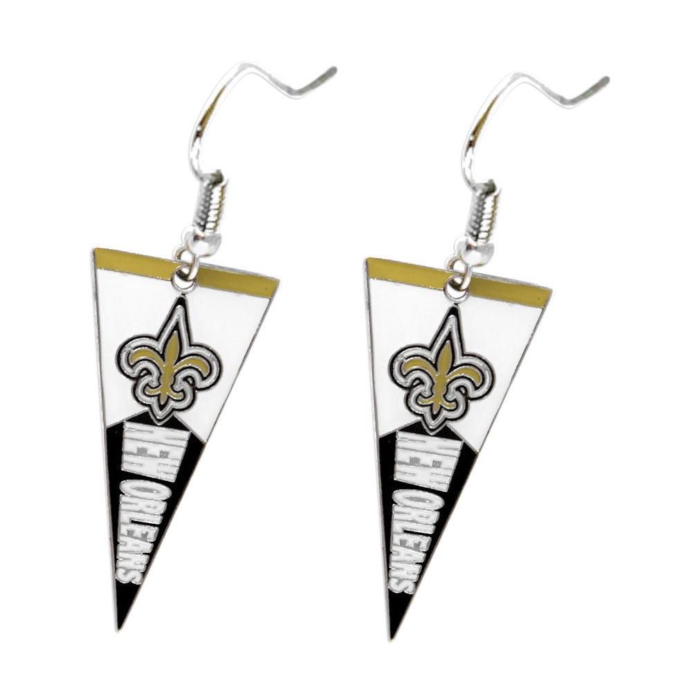 Aminco NFL New Orleans Saints Pennant Earrings