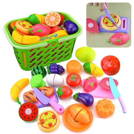 23Pcs Kitchen Pretend & Play Cutting Toy Early Development and Education Toy for