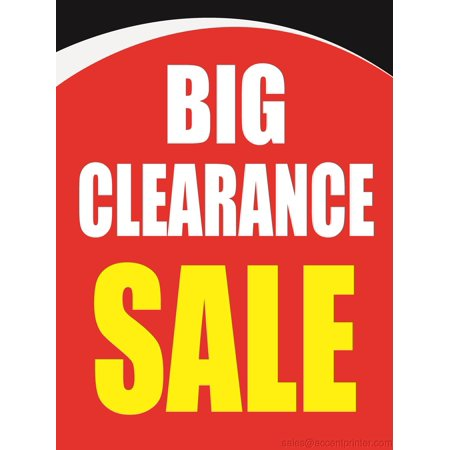 Fall Displays (Big Clearance Sale Storefront Window Display Sign, 18