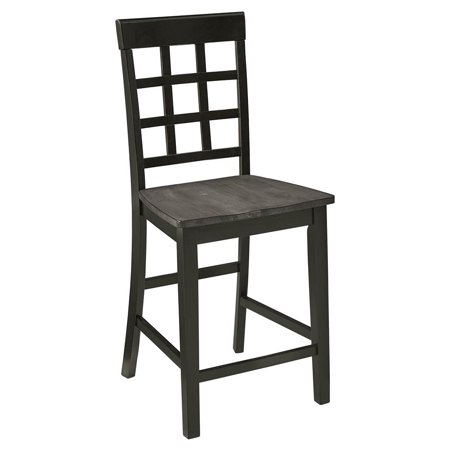 Progressive Furniture Salem 24 in. Lattice Back Counter Chair - Set of 2](24 Chair)