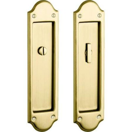 Baldwin 8320190EMHT Pocket Door Mortise Lock Cylinder from the Estate Collection, Satin Black