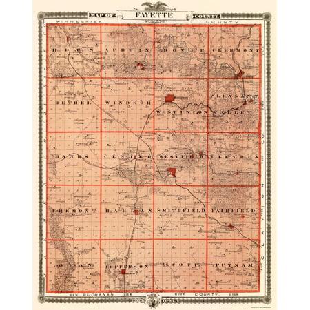 Fayette Iowa Map.Old County Map Fayette Iowa Landowner Andreas 1874 23 X 29 10