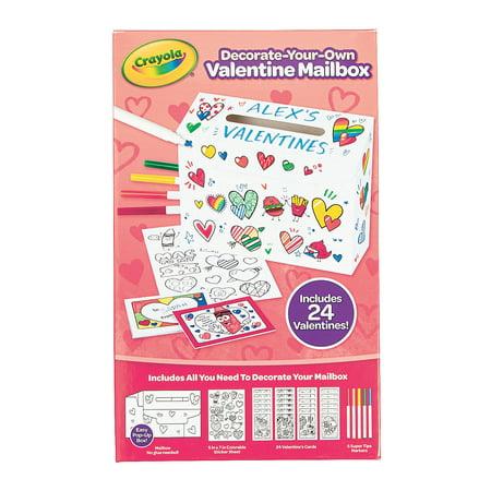 Fun Express - Crayola Cyo Valentine Mailbox Kit for Valentine's Day - Craft Kits - CYO - Paper - Stationery - Valentine's Day - 31