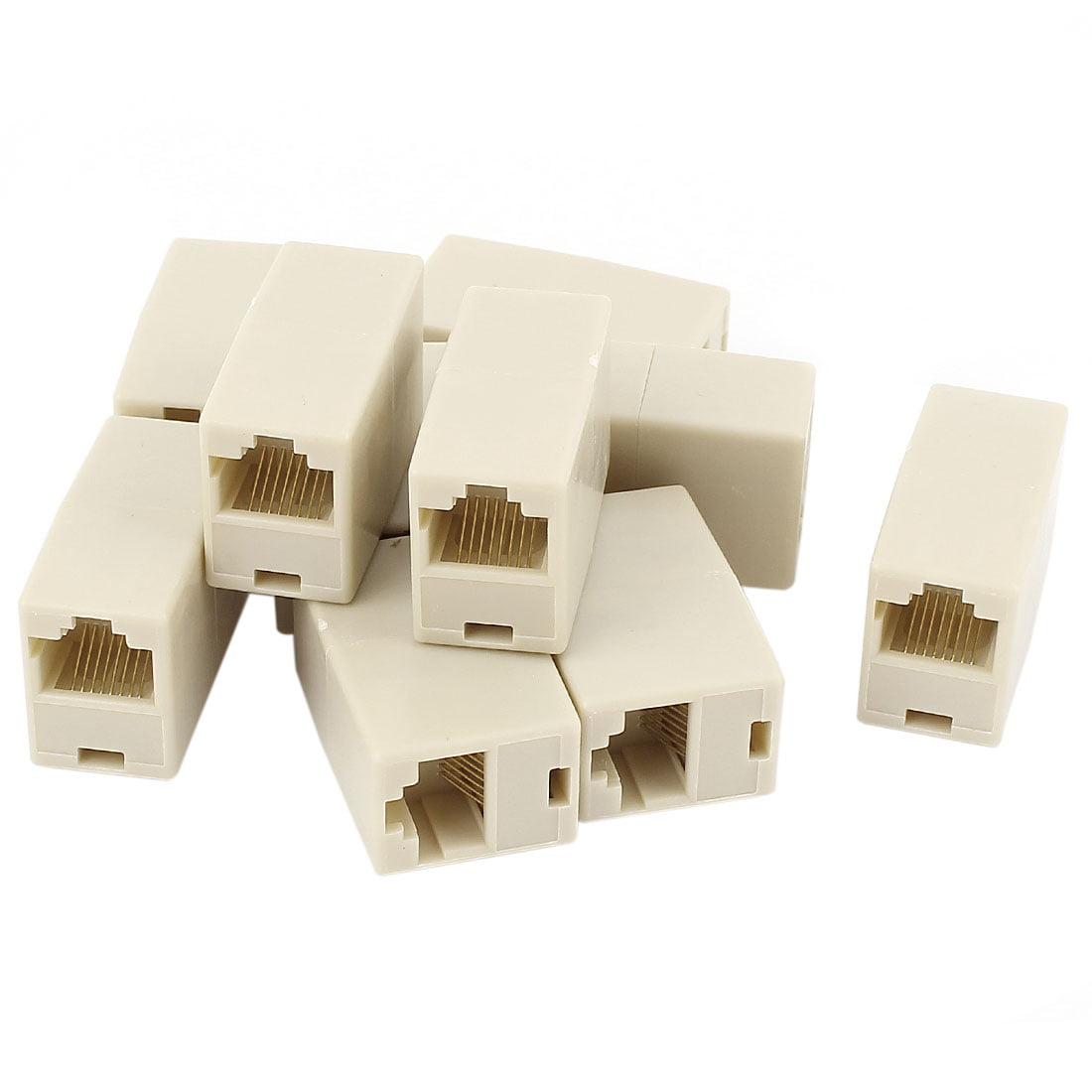 Unique Bargains Cat5 RJ45 Lan Network Ethernet Cable Extender Joiner Adapter Coupler 10 PCS