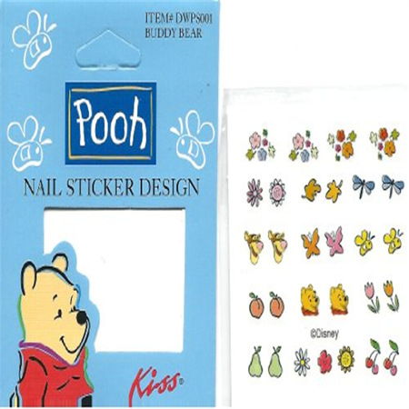 Disney Winnie The Pooh Kiss Licensed Nail Art Decals Buddy Bear