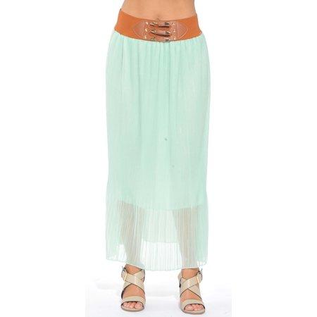 8e080b3abdedf0 Just Love - Just Love Skirts / Pleated Maxi Skirt (Mint, Small) -  Walmart.com