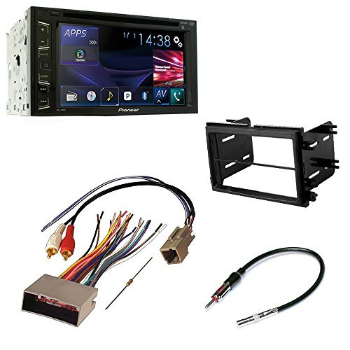 car cd stereo receiver dash install mounting kit wire harness and radio antenna adapter for for