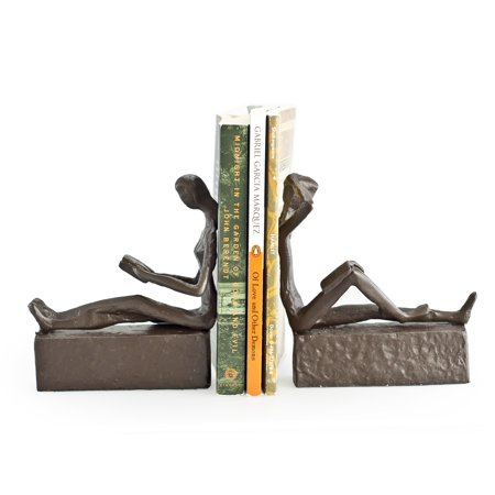 Womens Bookend (Danya B. Man & Woman Reading Metal Bookend)