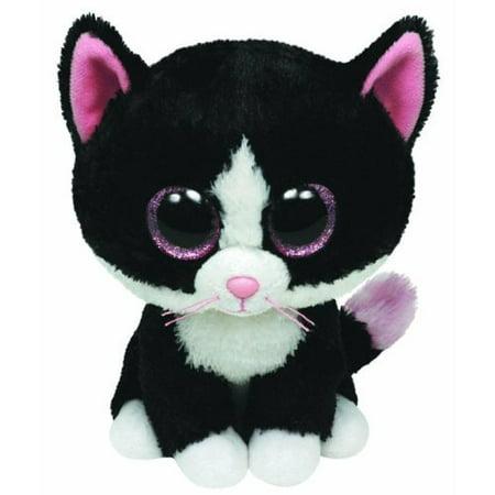 TY Beanie Boos - Pepper the Black & White Cat (Glitter Eyes) Small 6