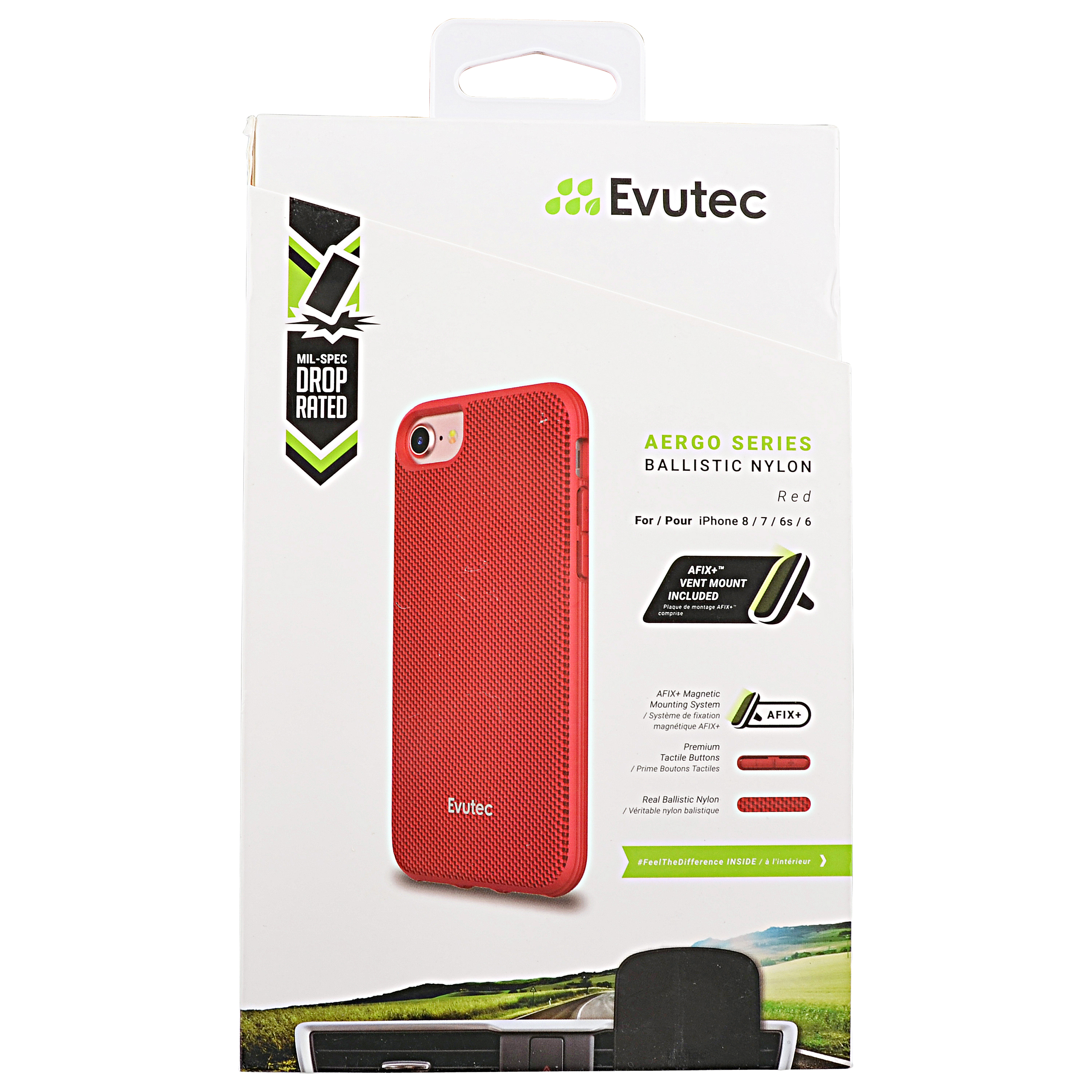 Evutec Protective Case for iPhone 8 Red