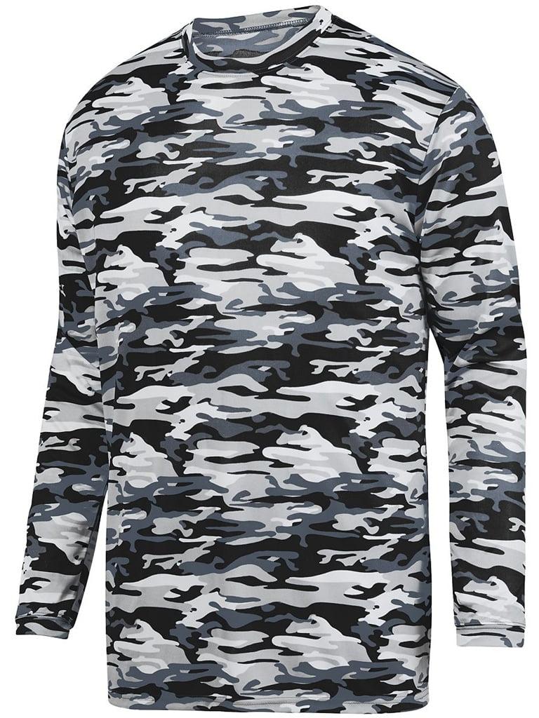 Augusta Sportswear Youth Camo Mod Long Sleeve Wicking Tee- Style 1808