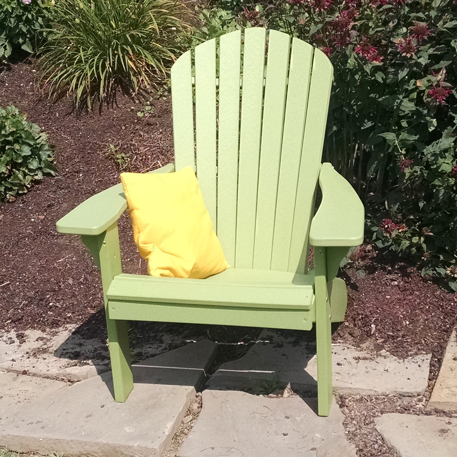 A & L Furniture Recycled Plastic Fanback Adirondack Chair by A and L Furniture Co