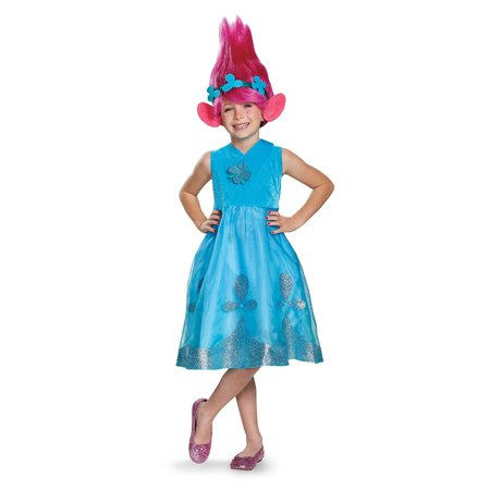 Troll Wig Costume (Trolls - Poppy Deluxe Child Costume with)