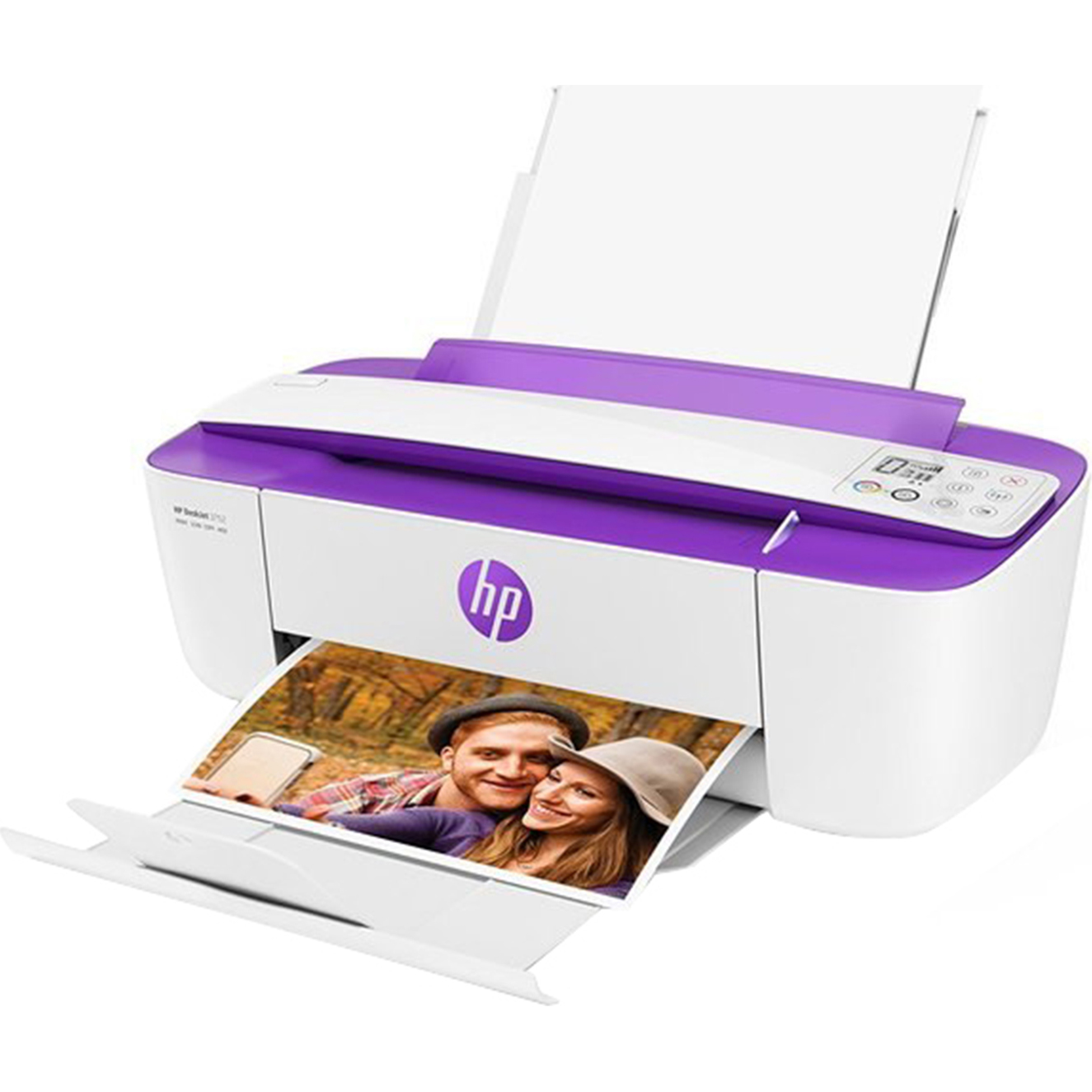 Refurbished HP 3755 All-in-One Color Ink Jet Printer, Purple
