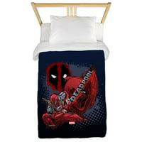 CafePress - Deadpool Spatter Full Bleed Twin Duvet - Twin Duvet Cover, Printed Comforter Cover Microfiber