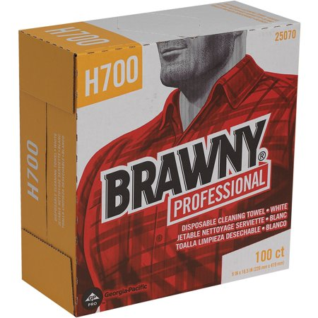 Brawny Industrial, GPC25070, Wipers, 100 / Box, White