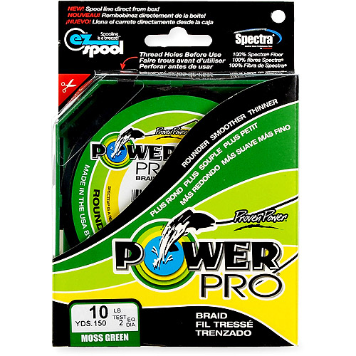 Power Pro Fishing Line - Moss Green, 150 yards, 10 lbs