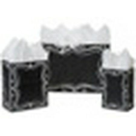 Boulder Chalk Bag - Black Chalkboard Gift Bags  8x4-3/4x10-1/4