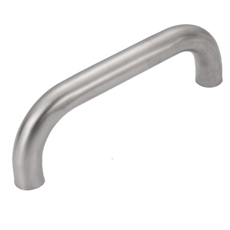 Unique Bargains 19mm Tube Dia Stainless Steel Polished Door Handle Accessory Silver Tone