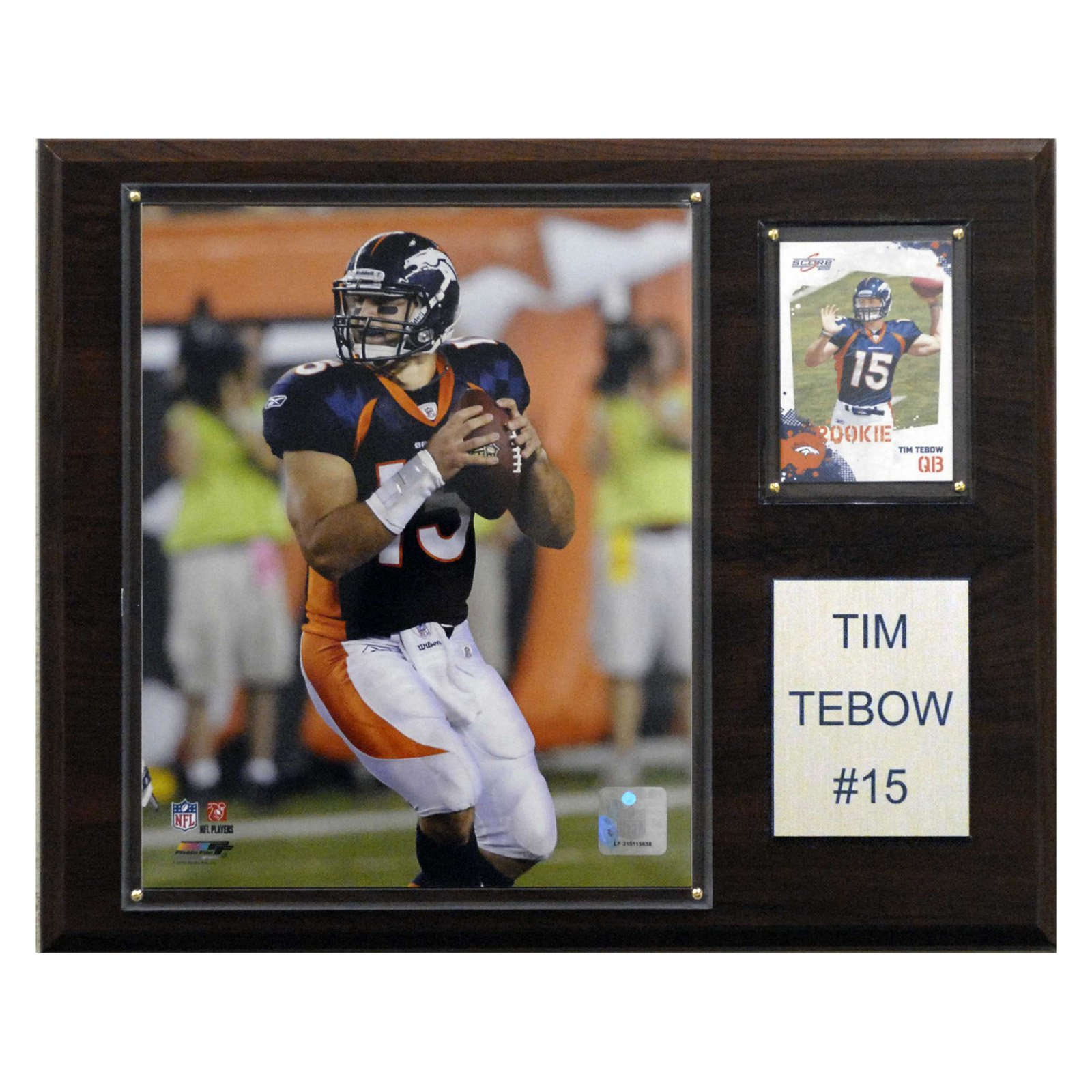 C&I Collectables NFL 12x15 Tim Tebow Denver Broncos Player Plaque