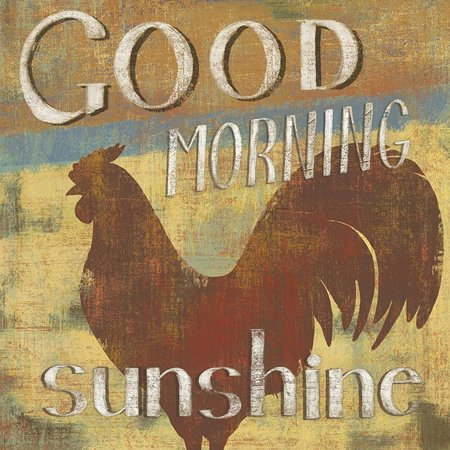 Barnyard Designs Good Morning Sunshine Rooster Retro Vintage Tin Bar Sign Country Home Decor 11  X 11