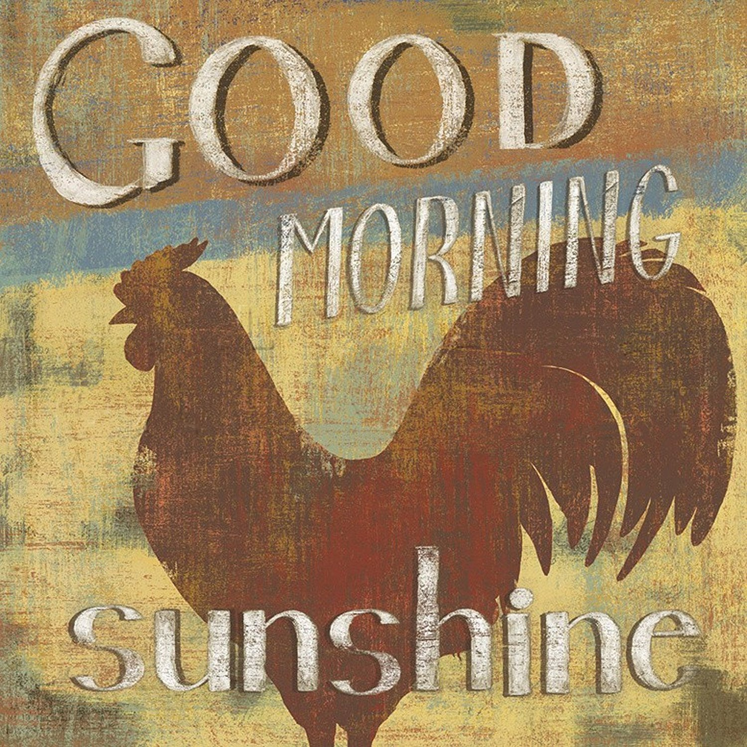 "Barnyard Designs 'Good Morning Sunshine' Rooster Retro Vintage Tin Bar Sign Country Home Decor 11"" x 11"""
