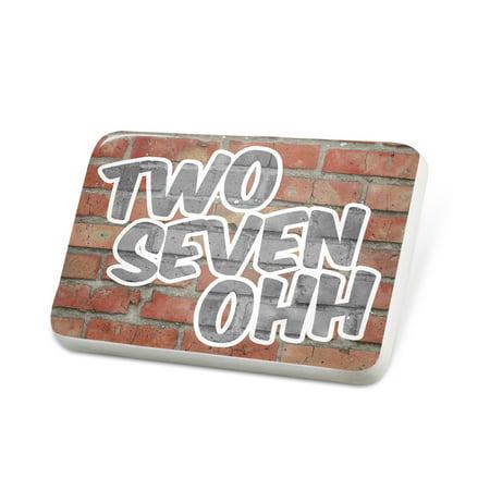 Porcelein Pin 270 Bowling Green, KY brick Lapel Badge – NEONBLOND ()