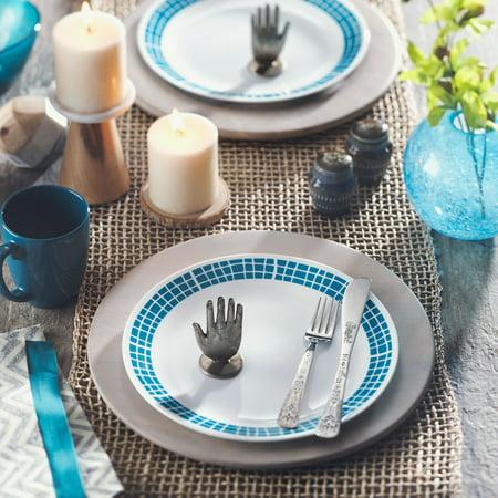 Corelle Livingware Aqua Tile 16 Piece Dinnerware Set